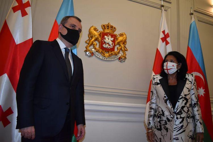 Gürcüstan Prezidenti Ceyhun Bayramovu qəbul edib