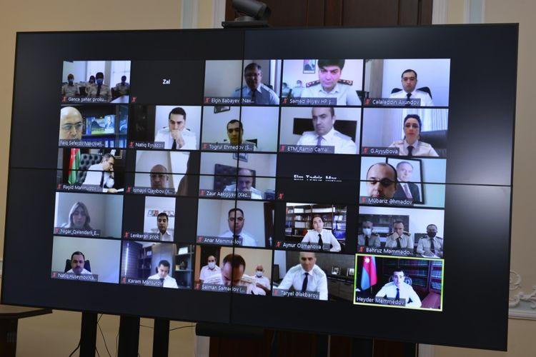 Baş Prokurorluqda videokonfrans keçirilib