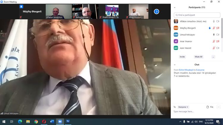 Azərbaycan Mətbuat Şurasının İdarə Heyətinin iclası keçirilib