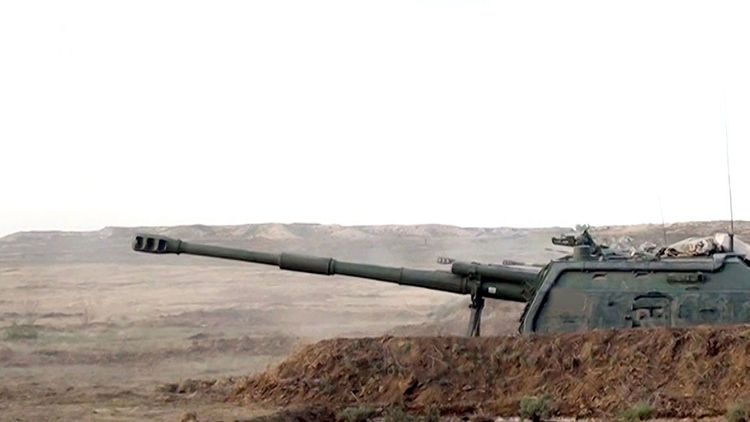 Combat firing carried out from