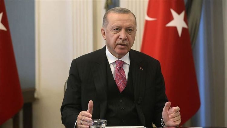 """Erdogan: """"Turkey will protect its rights with unshakable faith"""""""