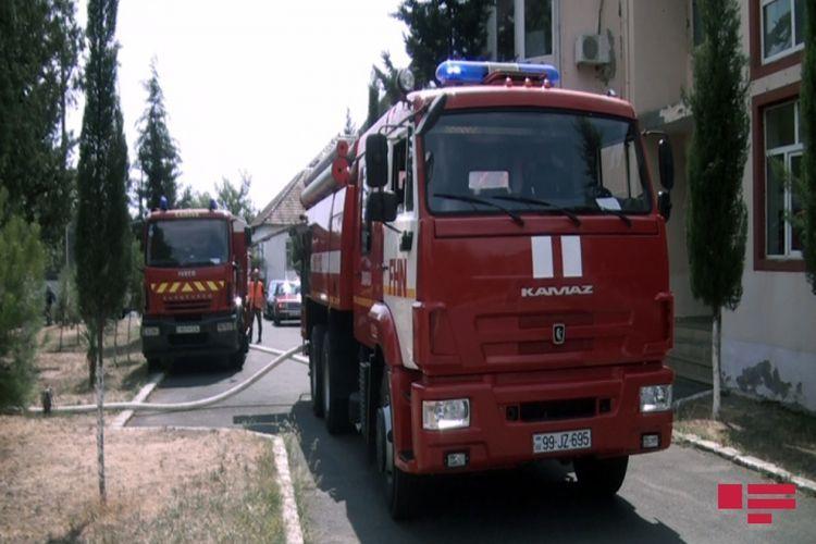 В Масазыре в жилом доме произошел пожар