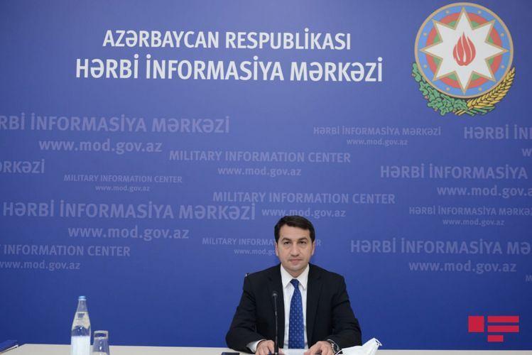 "Hikmat Hajiyev: ""We understand international community's concern"""