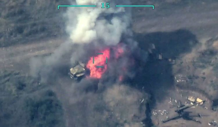 Azerbaijani MoD: Several more enemy military vehicles were destroyed - <span class=