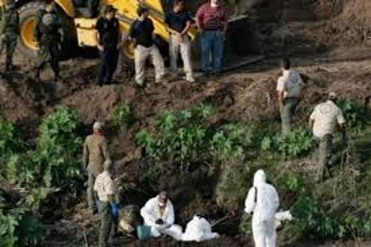 Human remains found in clandestine graves in central Mexico