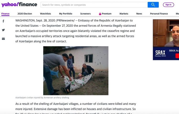 """US media: """"All members of the same family were killed by Armenian forces"""""""