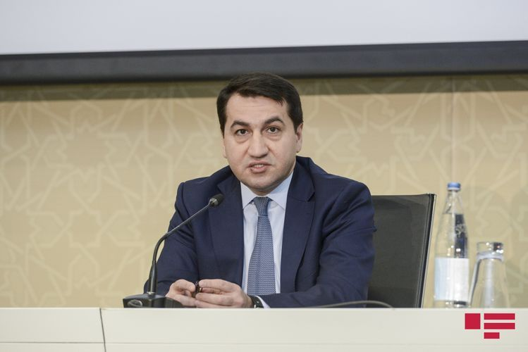 """Hikmet Hajiyev: """"Two Armenian Su-25 planes crashed into a mountain yesterday and blew up"""""""