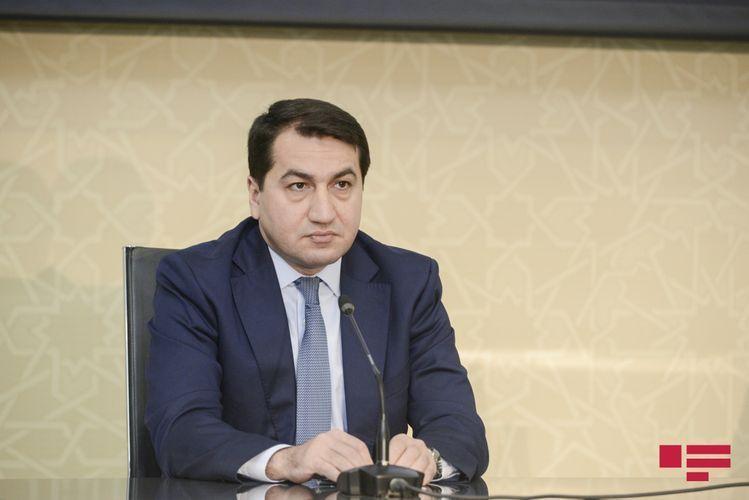 "Hikmet Hajiyev: ""International community should adequately respond to the use of terrorist forces by Armenian against Azerbaijan"""