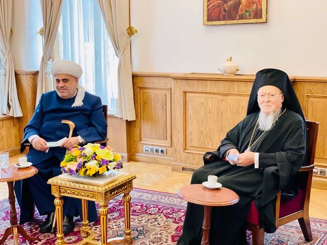 CMO Chair invites Patriarch Bartholomew to visit mosques and churches in Karabakh together