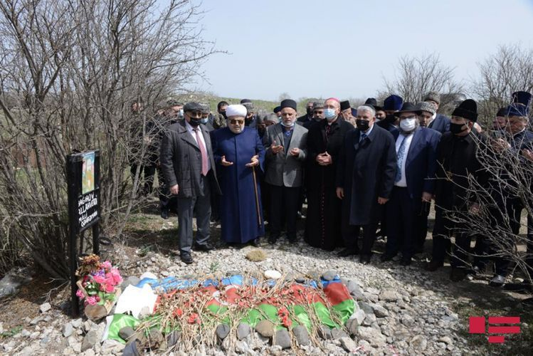 CMO chairman and heads of religious confessions visited Alley of Martyrs in Agdam