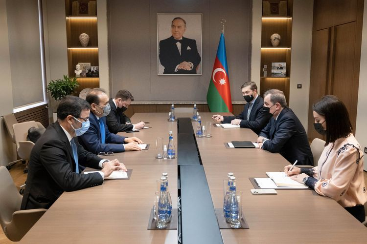Foreign Minister Jeyhun Bayramov met with the Secretary-General of the Cooperation Council of Turkic-Speaking States Baghdad Amreyev
