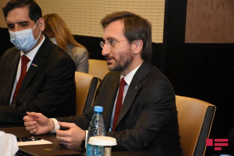 Bilateral meeting being held between Hikmat Hajiyev and Fahrettin Altun - <span class='red_color'>PHOTO</span>
