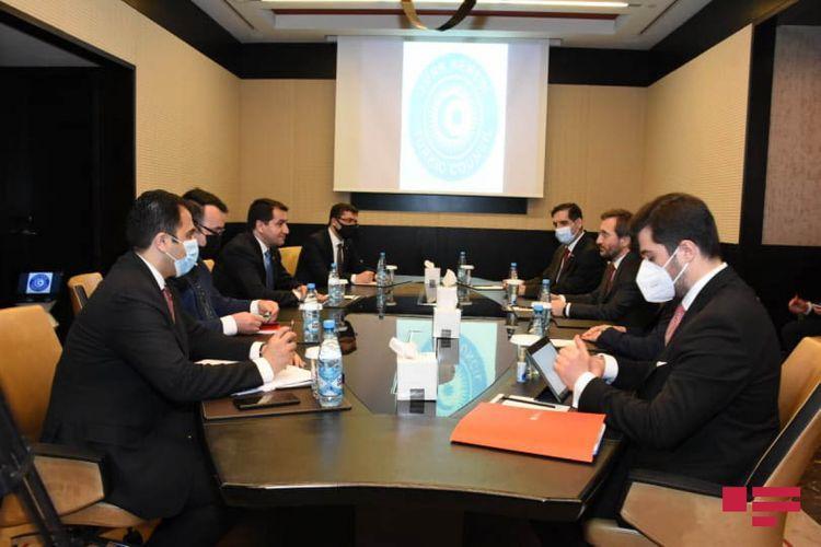 Bilateral meeting being held between Hikmat Hajiyev and Fahrettin Altun - <span class=