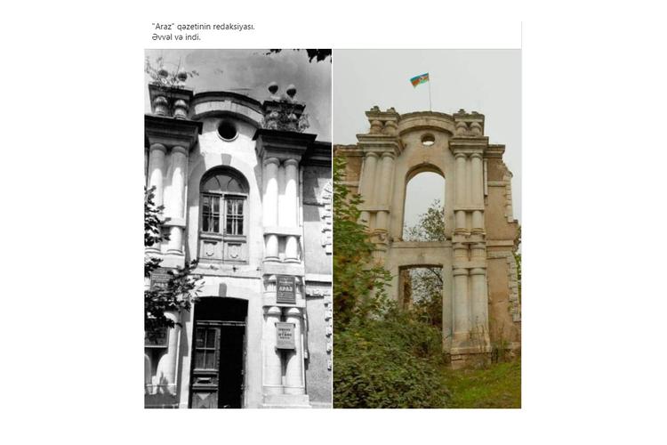 """Füzulidəki """"Araz"""" qəzetinin redaksiyası bərpa ediləcək"""