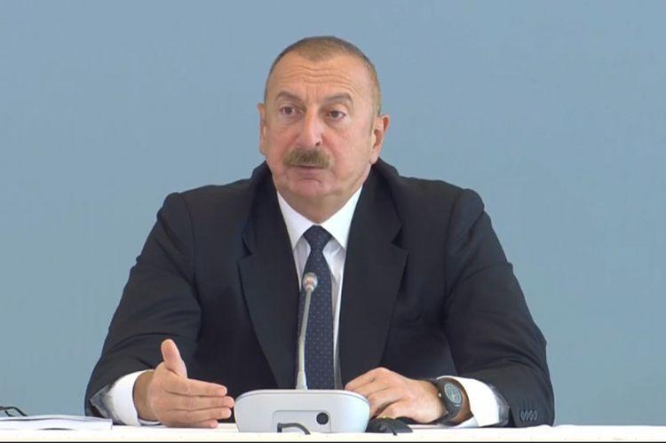 """Azərbaycan Prezidenti: """"Azad etdiyimiz ərazilərdə dağıntılar bizim gözlədiyimizdən də artıq idi"""""""
