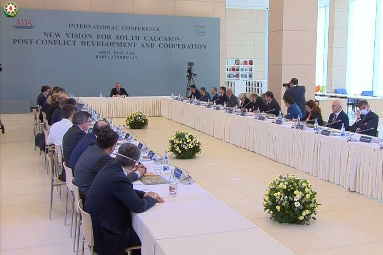 Президент принял участие в конференции «Новый взгляд на Южный Кавказ: Постконфликтное развитие и сотрудничество» в ADA - <span class=