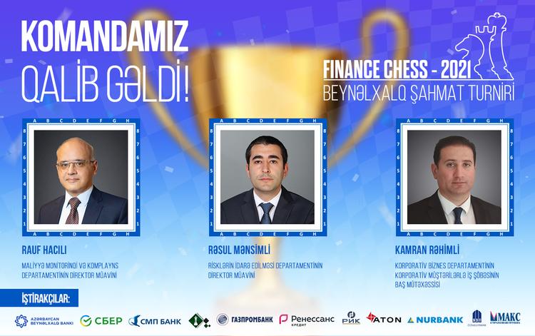 Azərbaycan Beynəlxalq Bankının əməkdaşları beynəlxalq turnirin qalibi oldu