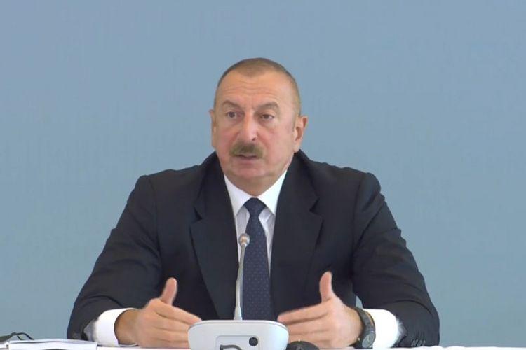 """Azərbaycan Prezidenti: """"Ümid edirəm ki, gələn ildən məcburi köçkünlərin geri qaytarılmasına başlanacaq"""""""