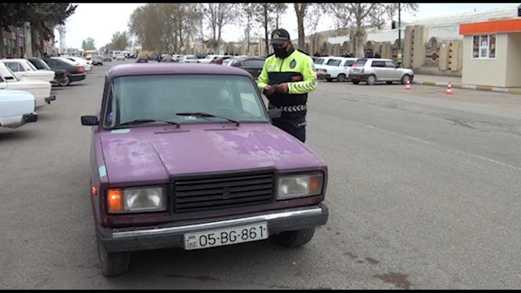 Qərb rayonlarında yol polisi reyd keçirib