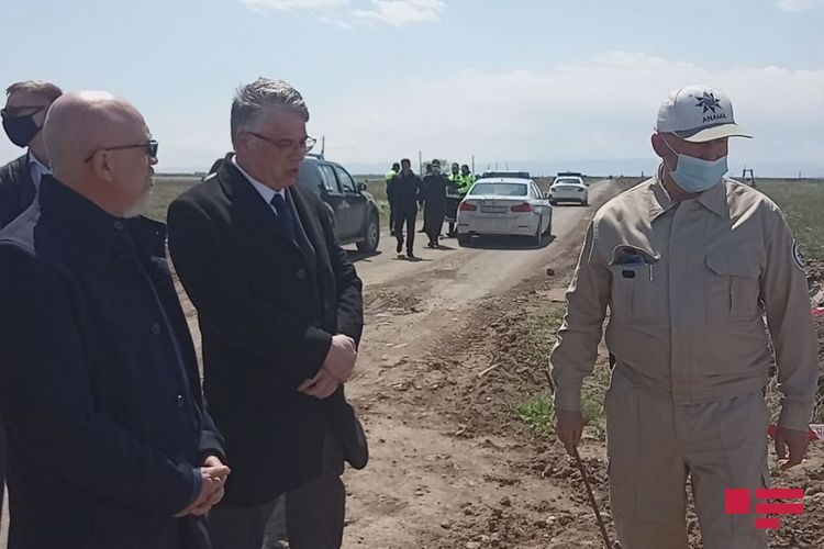 Ukrainian Deputy PM visits Agdam