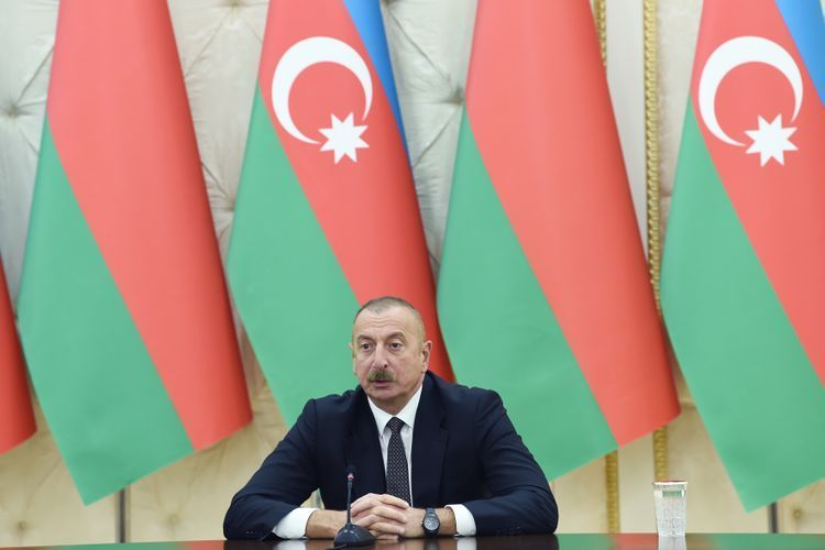 """Azerbaijani President: """"Companies from three friendly countries are already working on reconstruction projects in Karabakh, we do hope that Belarus will be the fourth country"""""""