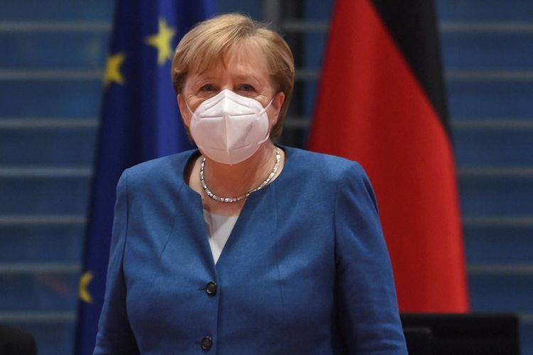 Angela Merkel gets her AstraZeneca COVID vaccine shot