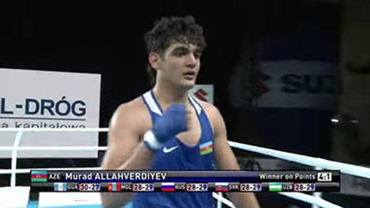 Azərbaycan boksçusu dünya birinciliyində 1/8 finala yüksəlib