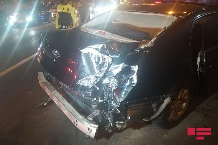 В Баку столкнулись 4 автомобиля, ранены три человека - <span class='red_color'>ФОТО</span>