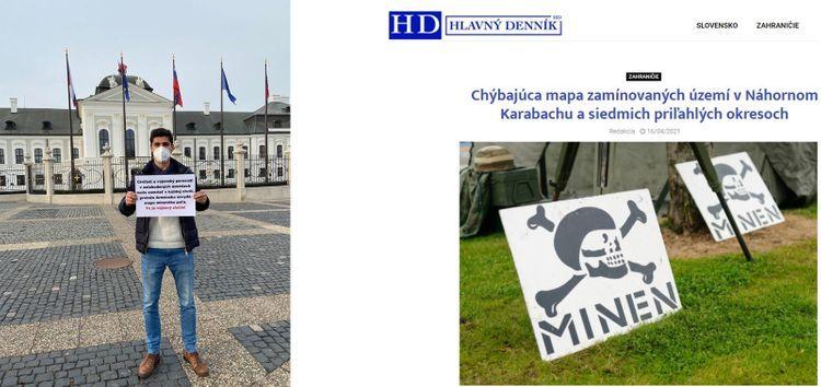 Protest held against Armenia in Slovakia