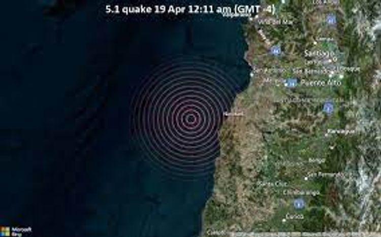 5.1-magnitude quake hits 81 km WSW of San Antonio, Chile