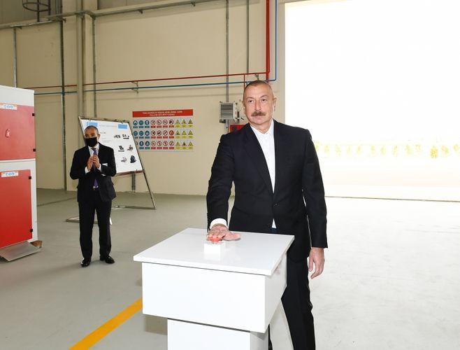 Президент Ильхам Алиев принял участие в открытии Гаджигабульского промышленного квартала - <span class='red_color'>ОБНОВЛЕНО</span>