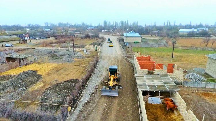 Ucar, Zərdab, Ağcabədi, Yevlax və Şəkinin kənd yolları yenidən qurulur - <span class='red_color'>FOTO</span>