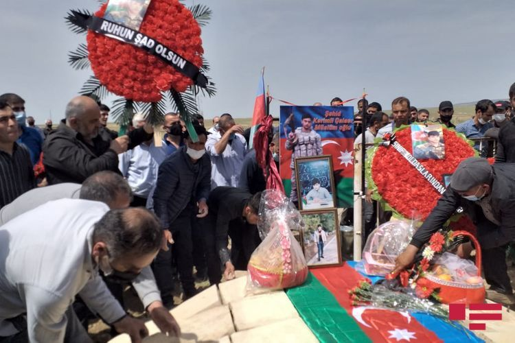 Soldier of the Azerbaijani Army martyred five months ago in Patriotic War buried in Hajigabul - <span class=