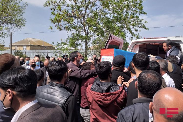 Soldier of the Azerbaijani Army martyred five months ago in Patriotic War buried in Hajigabul - <span class='red_color'>PHOTO</span>