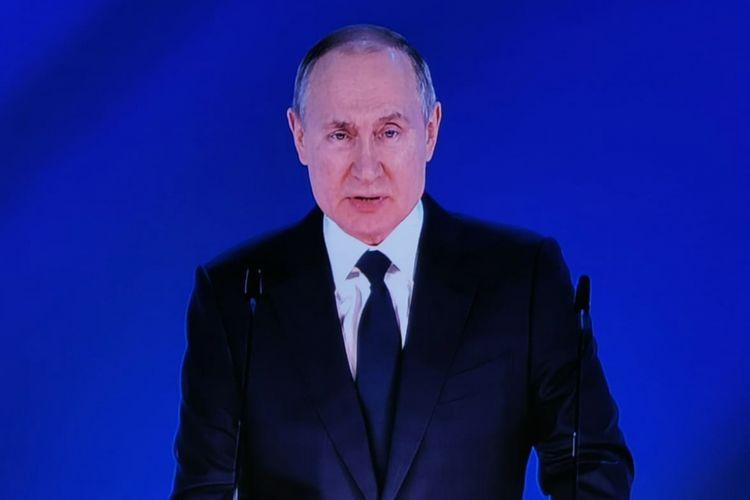 Putinin Federal Məclisə müraciəti başlayıb - <span class=