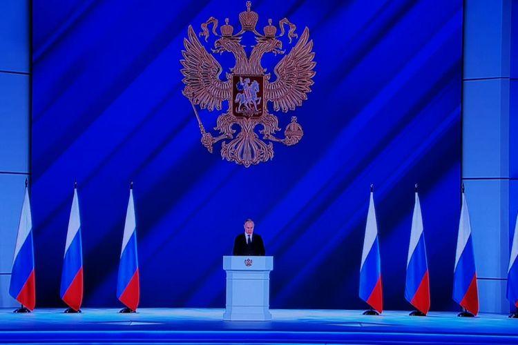 Putinin Federal Məclisə müraciəti başlayıb - <span class='red_color'>FOTO</span>