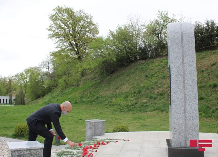 Deputy Ambassador of Israel visits Guba Genocide Memorial Complex - <span class='red_color'>PHOTO</span>