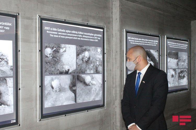 Deputy Ambassador of Israel visits Guba Genocide Memorial Complex - <span class=