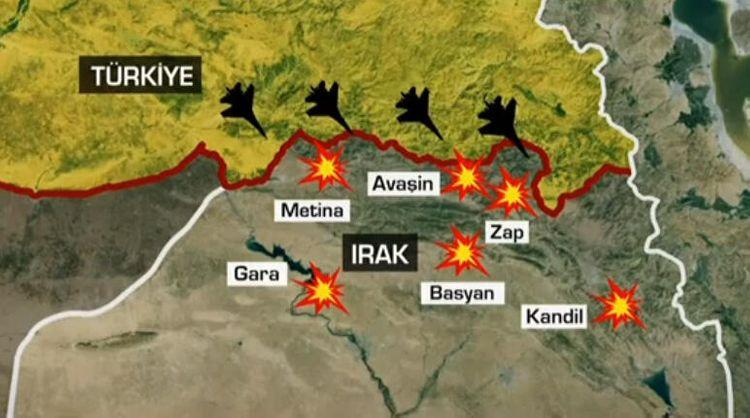 Türkiyə İraqda PKK terrorçularına qarşı geniş miqyaslı əməliyyata başlayıb