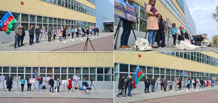 В нескольких городах Европы прошли акции в связи с непредоставлением Арменией карт минных полей - <span class=