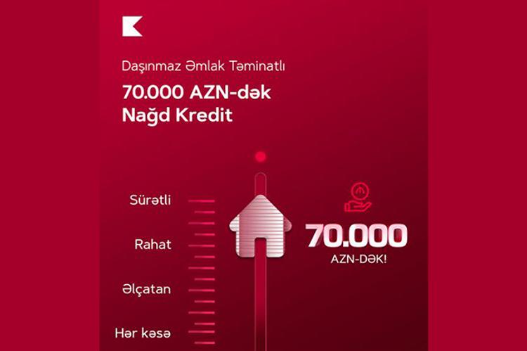 """""""Kapital Bank"""" daşınmaz əmlak təminatlı kreditin faiz dərəcəsini endirib"""