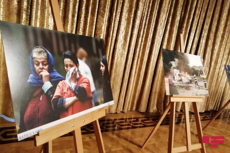 Türkiyə parlamentində Ermənistanın müharibə cinayətlərinə həsr olunmuş foto-sərgi açılıb - <span class='red_color'>FOTO</span>