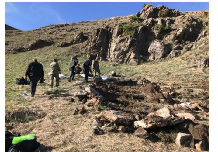 Remains of bodies of 12 persons, killed by Armenians during occupation of Kalbajar, detected