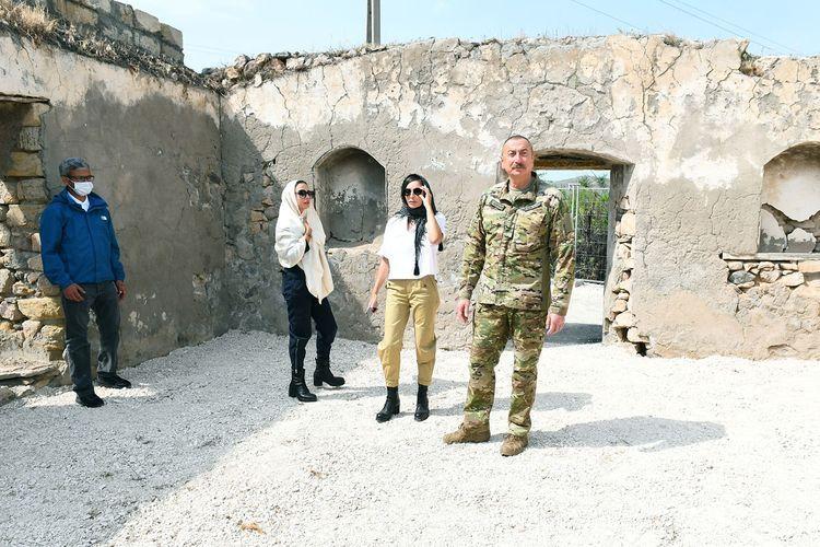 Президент Ильхам Алиев и первая леди Мехрибан Алиева побывали в Джабраильском и Зангиланском районах - <span class=