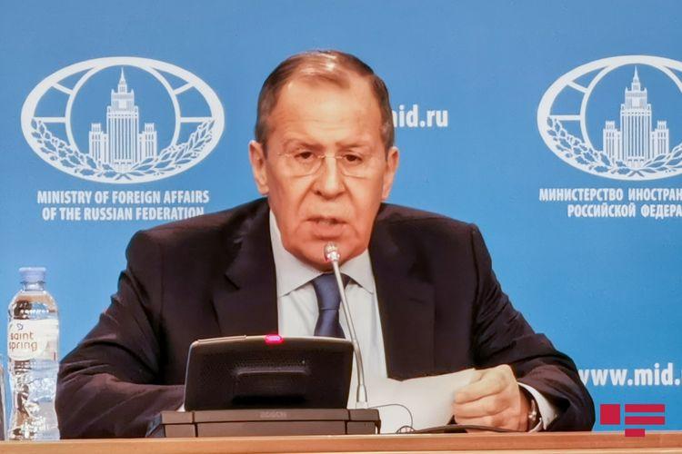 """Lavrov: """"Kiyevi Minsk razılaşmalarının icrasına yalnız Qərb məcbur edə bilər"""""""