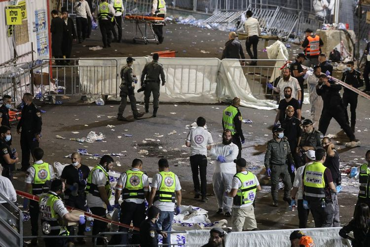 Death toll in stand collapse during religious holiday in Israel rises to 44 - <span class=