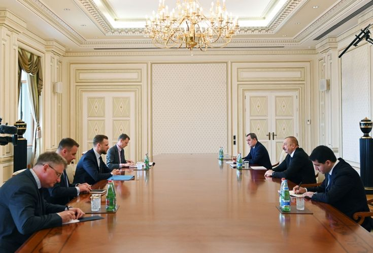 President Ilham Aliyev received delegation led by Lithuanian FM - <span class=