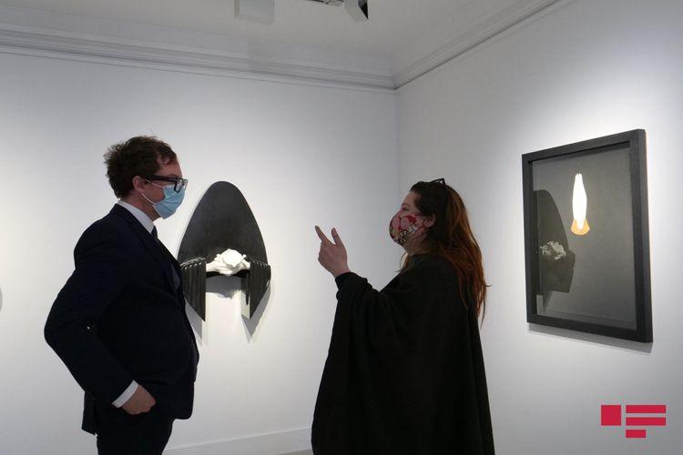 Londonda Aydan Salahovanın sərgisi açılıb - <span class='red_color'>FOTO</span>
