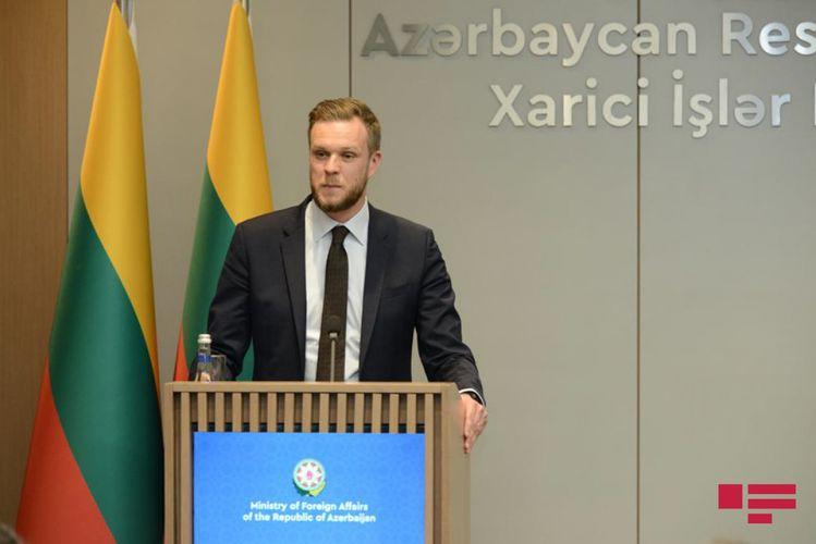 """Litva XİN başçısı: """"Azərbaycanla əməkdaşlığın genişləndirilməsinin tərəfdarıyıq"""""""