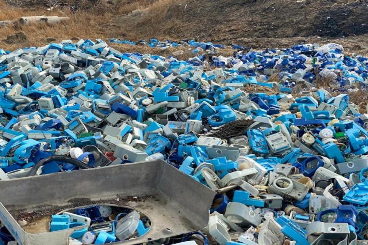"""Suraxanı rayonunda yararsız su sayğacları yanıb - <span class=""""red_color"""">FOTO"""